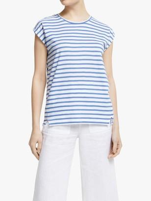 John Lewis & Partners Cotton Slub Stripe T-Shirt