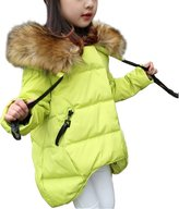 Gaorui HOT Kids Girls Winter Fur Hooded Snow Outwear Padded Princess Parka Jacket Coat