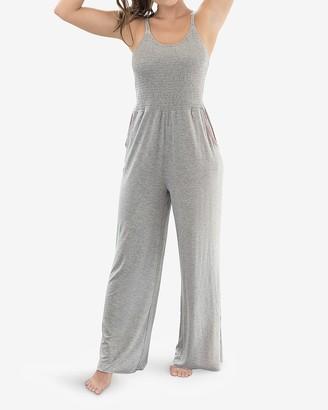 Express Honeydew Intimates Wide Leg Lounge Jumpsuit