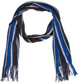 Missoni Wool Striped Open Knit Scarf
