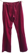 Karen Millen Pink Velvet Trousers for Women