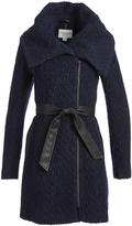 Cole Haan Black & Navy Wool-Blend Trench Coat