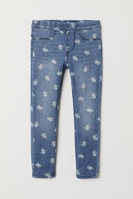 H&M Patterned denim leggings