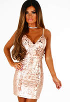 Pink Boutique Rise and Shine Rose Gold Sequin Mini Dress