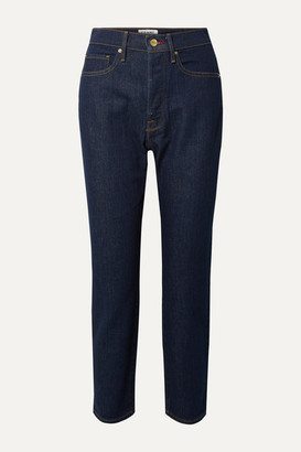 Frame Le Original High-rise Straight-leg Jeans - Blue