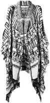Etro embroidered poncho - women - Viscose/Cotton/Sheep Skin/Shearling/Silk - One Size