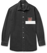 Raf Simons - Appliquéd Denim Shirt