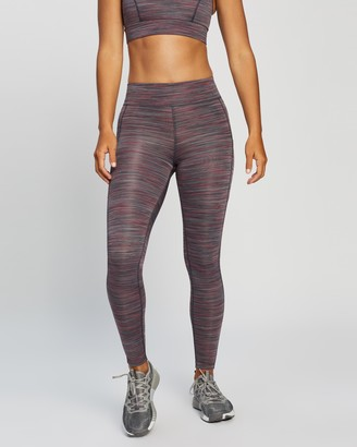 Running Bare Women's Purple Tights - Ab Waisted Flex Zone Full-Length Tights - Size 8 at The Iconic