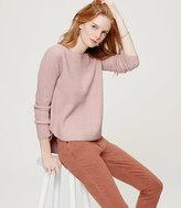 LOFT Ribbed Shirttail Sweater