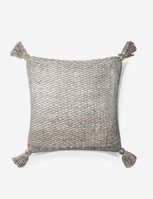 ED Ellen Degeneres Lulu And GeorgiaLulu & Georgia Antibes Pillow, Ivory and Gray, Crafted by Loloi