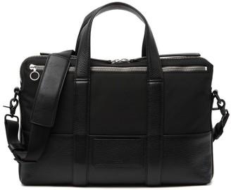 Kara Leather & Nylon Computer Shoulder Bag