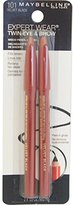 Maybelline New York Expert Wear Twin Brow and Eye Pencils, 101 Velvet Black, 0.03 Ounce
