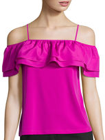 WORTHINGTON Worthington Off-The-Shoulder Ruffle Top