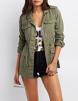 Charlotte Russe Tribal-Trim Anorak Jacket