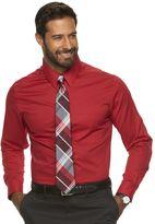 Croft & Barrow Men's Classic-Fit Checked Broadcloth Dress Shirt