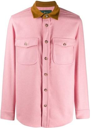 Woolrich contrasting collar shirt