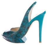 Nicholas Kirkwood Snakeskin Slingback Sandals w/ Tags