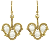 Ten Thousand Things Lace Link Triple Keshi Pearl Earrings