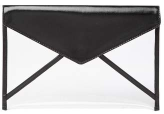Rebecca Minkoff Leo Leather & Clear Clutch