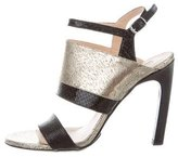 Dries Van Noten Metallic Leather Sandals