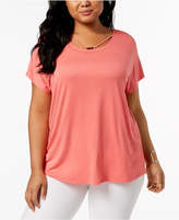 NY Collection Plus Size Strappy Top