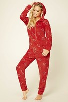 Forever 21 FOREVER 21+ Happy Face Plush PJ Jumpsuit