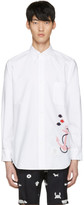 Thom Browne White Anchor & Fish Classic Shirt