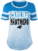 5th & Ocean Women's Carolina Panthers Space Dye Foil T-Shirt