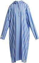 Vetements Oversized striped hooded dress