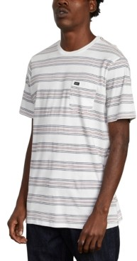 RVCA Men's Straight Edge Stripe Pocket T-Shirt