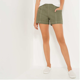 Joe Fresh Women's Twill Shorts, Olive (Size XL)