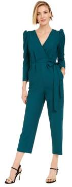 Julia Jordan Puff-Shoulder Jumpsuit