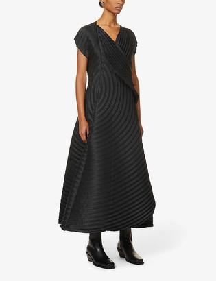 Issey Miyake Pleated woven midi dress