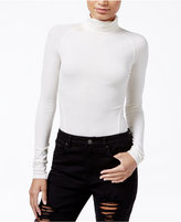 Rachel Roy Ribbed Turtleneck Bodysuit, Only at Macy's