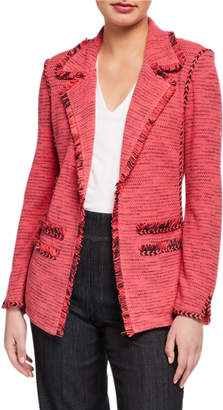 Nic+Zoe Plus Size Suite Blazer with Fringe Detail & Pockets
