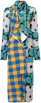 Marni mixed pattern draped dress