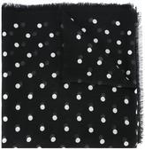 Saint Laurent polka dot scarf