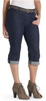 Levi's Petite Jeans, 515 Cuffed Belted Capri, Spoken True Wash