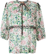 No.21 Floral Peasant blouse