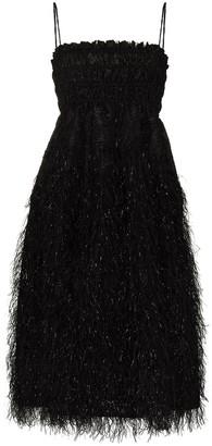 Ganni Feather-Detailing Midi Dress