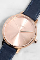 Nixon Kensington Leather Rose Gold and Taupe Watch