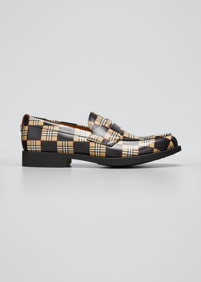 Burberry Men's Vintage Checkered Penny Loafers