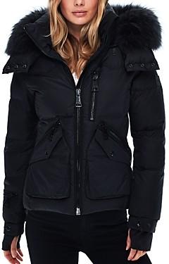 SAM. Jetset Fur Trim Down Coat
