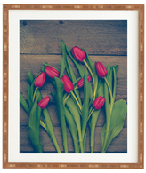 DENY Designs Red Tulips by Olivia St Claire (Framed)