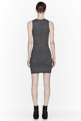 Gareth Pugh Black Striped Short Dress