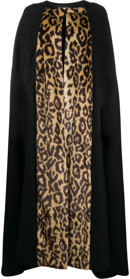 Dries Van Noten Pre-Owned LEOPARD Cape