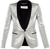 Saint Laurent Silver Tuxedo Jacket