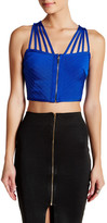 Wow Couture Zip Front Crop Tank