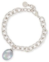 Majorica Chain Bracelet with Baroque Pearl Charm