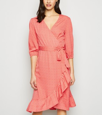 New Look Madam Rage Butterfly Wrap Dress